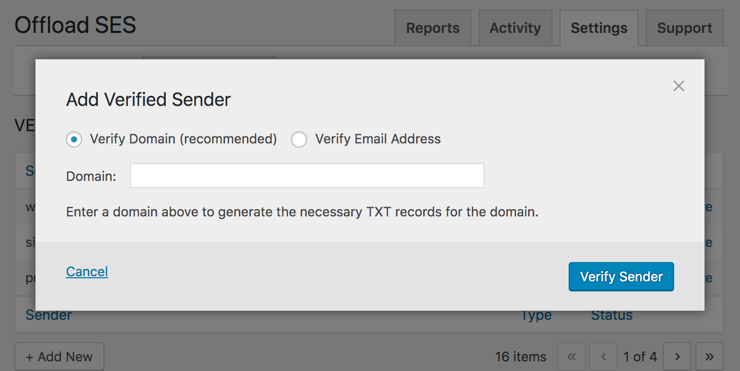 Verify sender emails or domains