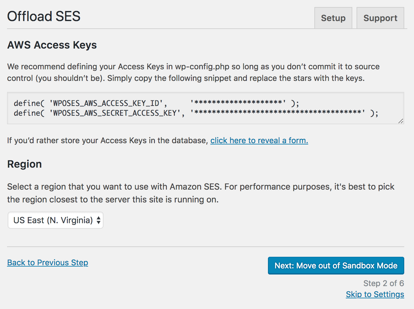 Step 2 - AWS access keys