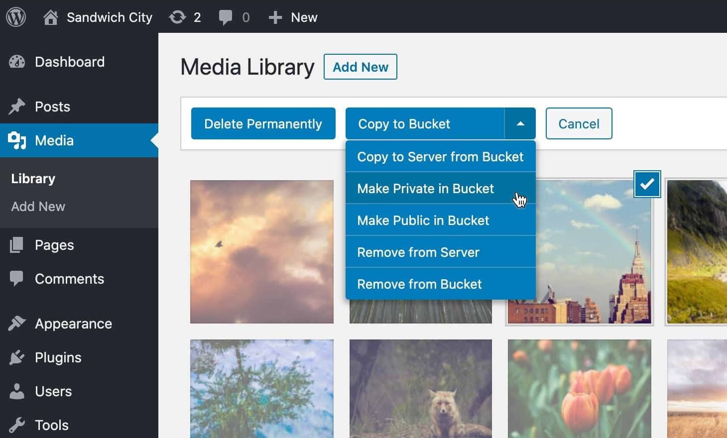 Control S3 and DigitalOcean Spaces files from the media library