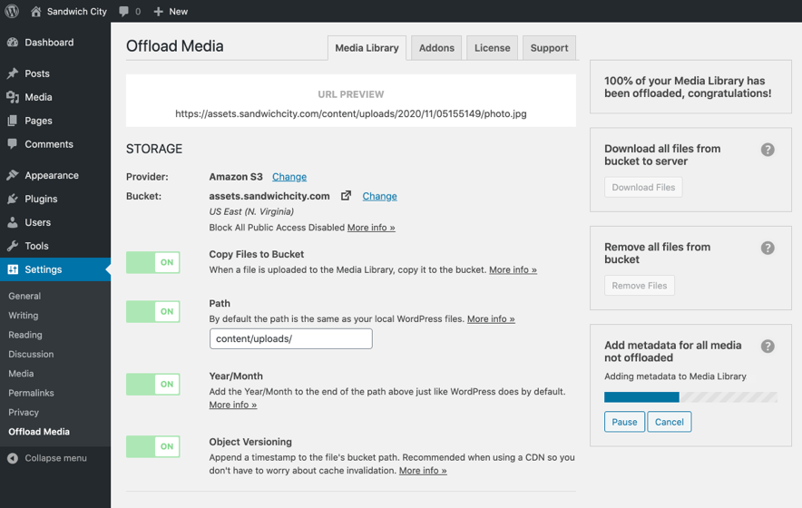 Offload media items that already exist in the cloud