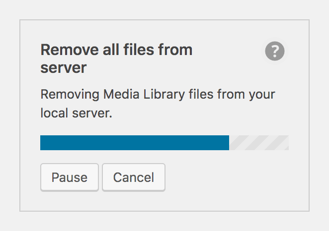 Remove files from server